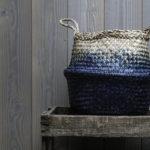 Panier boule bleu